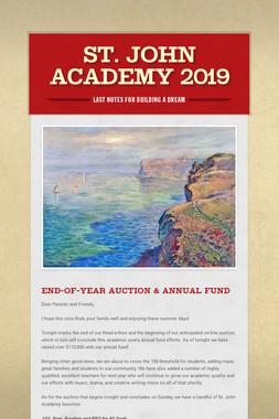 St. John Academy 2019