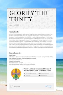 GLORIFY THE TRINITY!