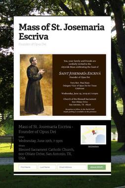 Mass of St. Josemaria Escriva