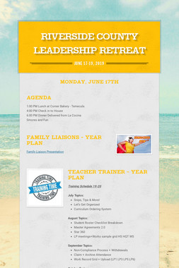 Riverside County Leadership Retreat