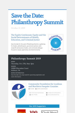 Save the Date:  Philanthropy Summit