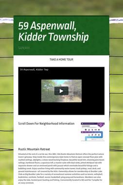 59 Aspenwall, Kidder Township
