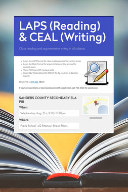 LAPS (Reading) & CEAL (Writing)