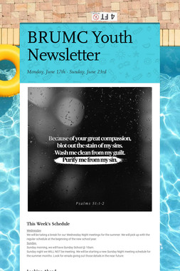 BRUMC Youth Newsletter