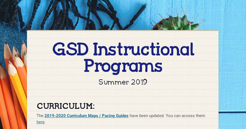 GSD Instructional Programs | Smore Newsletters for Education