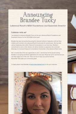Announcing Brandee Tuccy