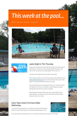 This week at the pool...