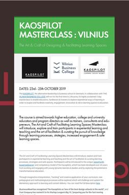 KAOSPILOT MASTERCLASS : VILNIUS