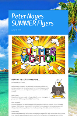 Peter Noyes SUMMER Flyers