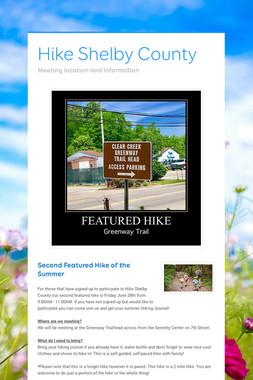 Hike Shelby County