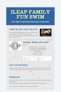 ILEAP Family Fun Swim