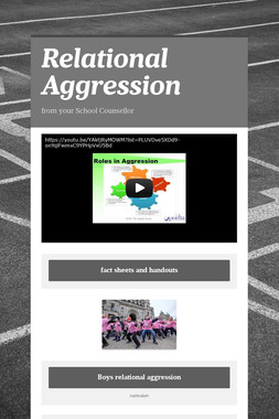 Relational Aggression