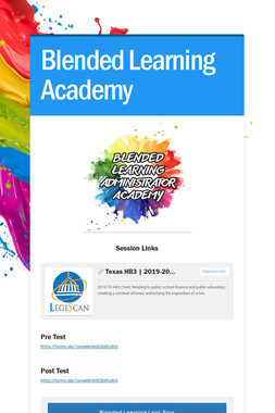 Blended Learning Academy