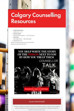 Calgary Counselling Resources
