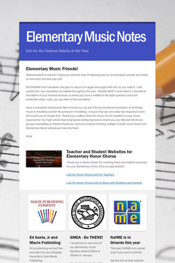 Elementary Music Notes