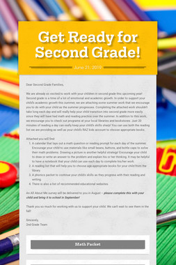 Get Ready for Second Grade!