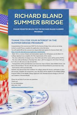 Richard Bland Summer Bridge