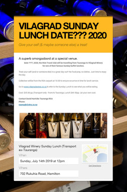 VILAGRAD SUNDAY LUNCH DATE??? 2020