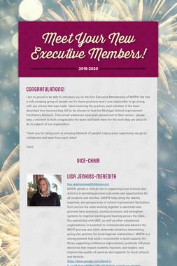 Meet Your New Executive Members!