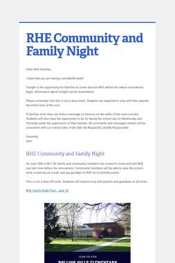 RHE Community and Family Night