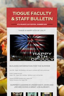 Tiogue Faculty & Staff Bulletin