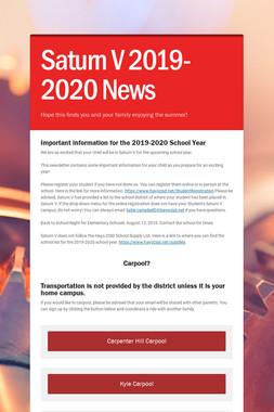 Saturn V 2019-2020 News