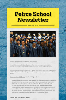 Peirce School Newsletter