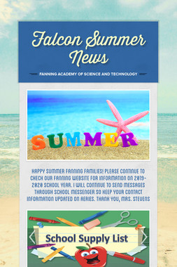 Falcon Summer News
