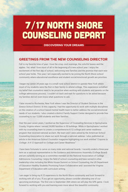 7/17  North Shore Counseling Depart