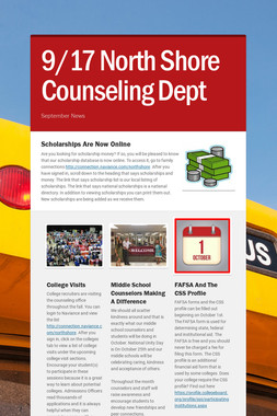9/17 North Shore Counseling Dept