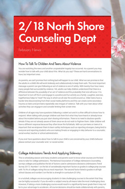 2/18 North Shore Counseling Dept