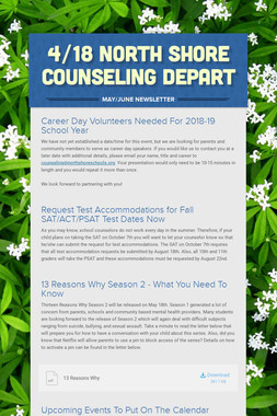 4/18 North Shore Counseling Depart