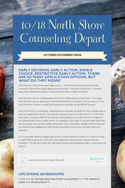 10/18 North Shore Counseling Depart