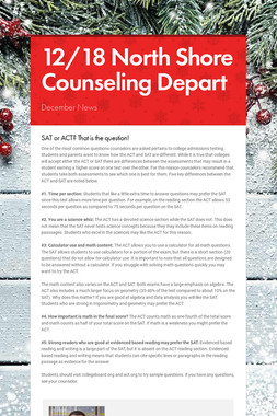 12/18 North Shore Counseling Depart