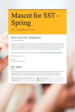 Mascot for SST - Spring
