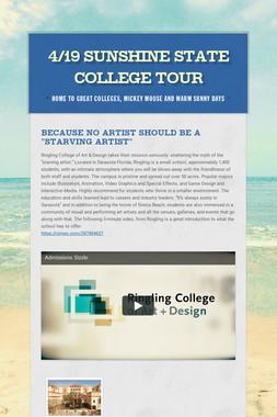 4/19 Sunshine State College Tour