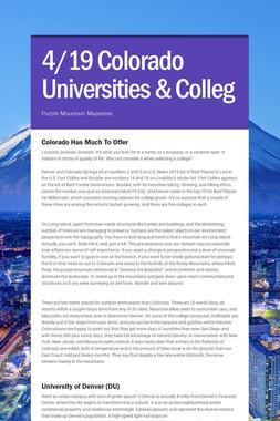 4/19 Colorado Universities & Colleg