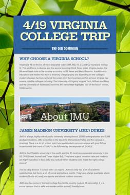 4/19 Virginia College Trip