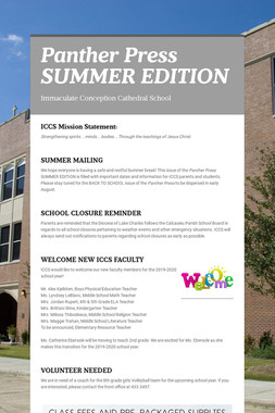 Panther Press  SUMMER EDITION