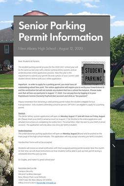 NAHS Parking Permit Process