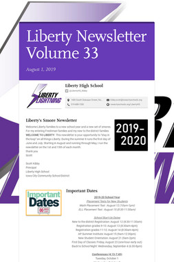 Liberty Newsletter Volume 33
