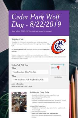 Cedar Park Wolf Day - 8/22/2019
