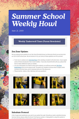 Summer School Weekly Howl