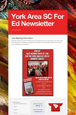 York Area SC For Ed Newsletter