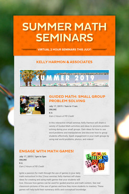 Summer Math Seminars