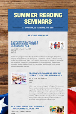 Summer Reading Seminars