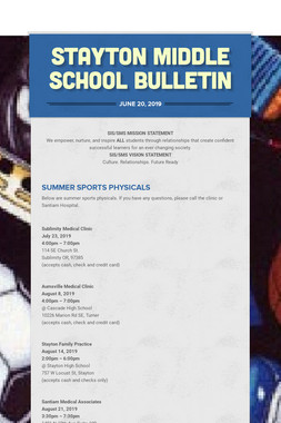 Stayton Middle School Bulletin
