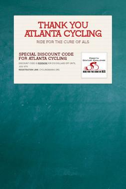 THANK YOU ATLANTA CYCLING