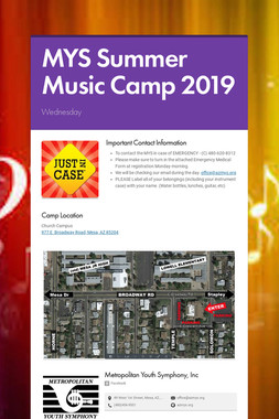 MYS Summer Music Camp 2019