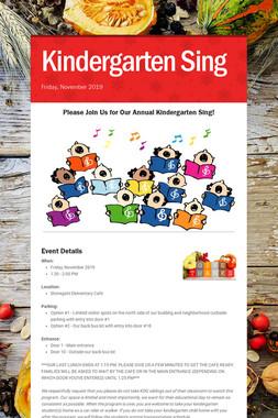 Kindergarten Sing